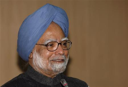 Prime Minister Manmohan Singh speaks during a conference on development, freedom and welfare in honour of Indian Nobel economics laureate Amartya Sen, in New Delhi December 19, 2008. REUTERS/B Mathur/Files
