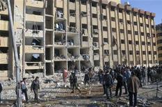 La zona dell'attentato ad Aleppo. REUTERS/George Ourfalian
