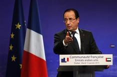 Il presidente Francois Hollande . REUTERS/Jumana ElHeloueh