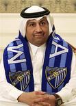 El Málaga apelará ante el Tribunal de Arbitraje Deportivo (TAS) una futura sanción que podría dejarle al menos una temporada fuera de competiciones europeas, dijo el martes el club andaluz. En la imagen de archivo, el jeque Abdullah al Thani, presidente del Málaga, posa durante una entrevista en 2010. REUTERS/Mohammed Dabbous