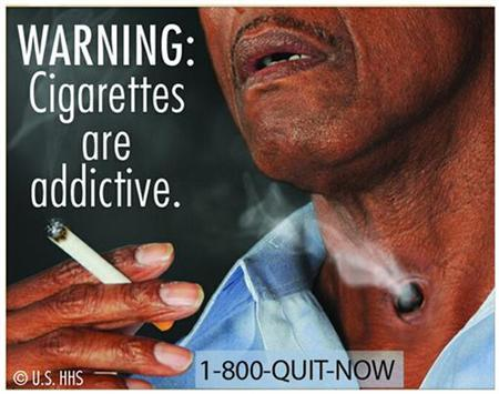 A graphic cigarette packaging released by the U.S. Food and Drug Administration June 21, 2011. REUTERS/U.S. Food and Drug Administration/Handout/Files
