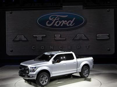 The Ford Atlas concept truck is displayed at the North American International Auto Show in Detroit, Michigan January 15, 2013. REUTERS/Rebecca Cook