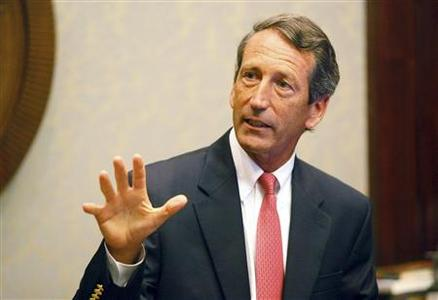 South Carolina Governor Mark Sanford addresses the media at a news conference at the State House in Columbia, South Carolina in this September 10, 2009 file photograph. REUTERS/Joshua Drake/Files