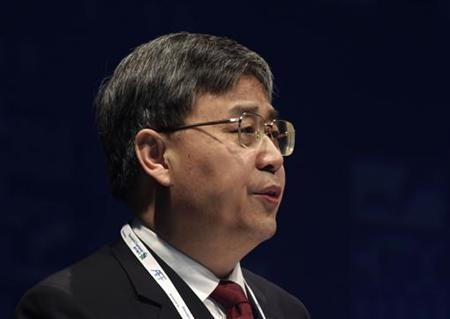 China Securities Regulatory Commission (CSRC) Chairman Guo Shuqing addresses the Asian Financial Forum in Hong Kong January 14, 2013. REUTERS/Bobby Yip