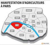 MANIFESTATION D'AGRICULTEURS À PARIS