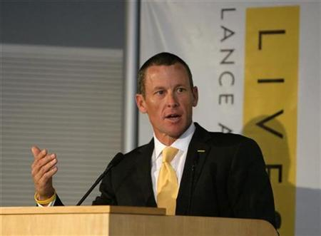 Lance Armstrong talks to the media at a news conference to kick off the Livestrong global cancer campaign in Australia at the Royal Adelaide Hospital January 19, 2009. REUTERS/Brandon Malone/Files