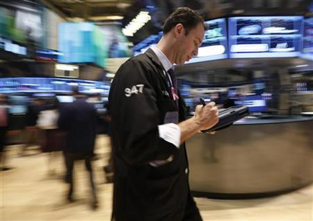 Global shares tick lower, but financials rally