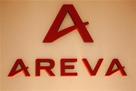 Logo of France's nuclear reactor maker Areva, is seen during the company's 2009 annual results presentation in Paris March 4, 2010. REUTERS/Charles Platiau/Files