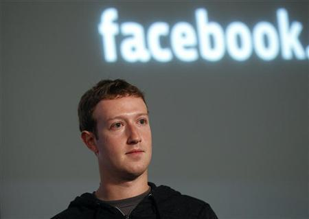 Facebook CEO Mark Zuckerberg listens to a question after introducing a new feature called ''Graph Search'' during a media event at Facebook headquarters in Menlo Park, California January 15, 2013. REUTERS/Robert Galbraith