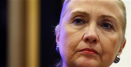 U.S. Secretary of State Hillary Clinton listens to a question during a joint news conference with Irish Prime Minister Enda Kenny at the government building in Dublin December 6, 2012. REUTERS/Kevin Lamarque