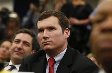 Virginia Tech shooting survivor Colin Goddard attends a White House event during which U.S. President Barack Obama unveiled a series of gun violence proposals at the White House in Washington, January 16, 2013. REUTERS/Larry Downing