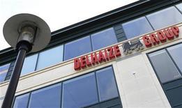 Le groupe belge de distribution Delhaize est parvenu à enrayer la glissade enregistrée par ses ventes aux Etats-Unis lors des trois derniers mois de 2012 après quatre trimestres consécutifs de repli. /Photo prise le 8 mars 2012/REUTERS/Yves Herman