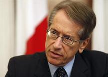 Il ministro degli Esteri Giulio Terzi. La Valletta, 12 settembre 2012. REUTERS/Darrin Zammit Lupi