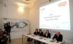 La presentazione di Coop come partner di Expo 2015. REUTERS/Hand out