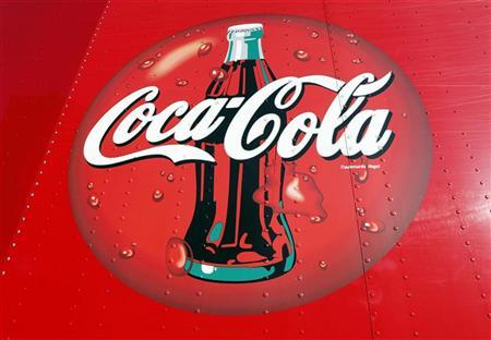 A Coca-Cola logo on a truck at a distribution center in Alexandria, Virginia October 16, 2012. REUTERS/Kevin Lamarque