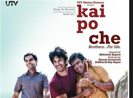 A screengrab of a movie poster for the film ''Kai Po Che'', taken from director Abhishek Kapoor's Twitter account.