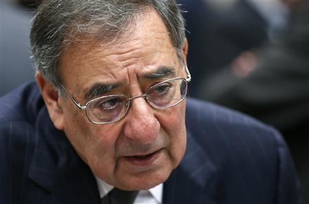 U.S. Defense Secretary Leon Panetta speaks during a NATO defence ministers meeting at the Alliance headquarters in Brussels October 10, 2012. REUTERS/Francois Lenoir