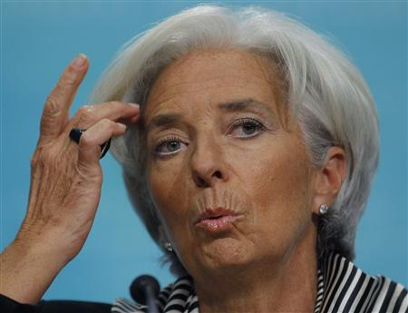 International Monetary Fund Managing Director Christine Lagarde holds a news conference to discuss the IMF's views on economic policy priorities in the year ahead in Washington January 17, 2013. REUTERS/Gary Cameron