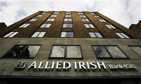 A branch of Allied Irish Bank is seen in London in this file photo taken August 14, 2009. REUTERS/Luke MacGregor