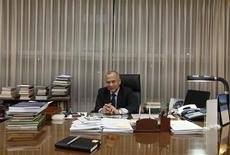 Pakistani High Commissioner to India, Salman Bashir, poses after an interview with Reuters in his office, in New Delhi January 17, 2013. REUTERS/Adnan Abidi
