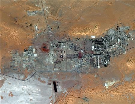 The Amenas Gas Field in Algeria is seen in this October 8, 2012 handout image courtesy of DigitalGlobe. REUTERS/DigitalGlobe/Handout