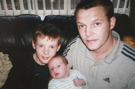 Belfast man Stephen McFaul (R) is pictured with his sons Dylan (L) and Jake in this undated family handout photo taken four years ago and made available January 17, 2013. McFaul, an Irishman who was among a group of gas workers kidnapped in Algeria, has been freed and is safe, Ireland's Foreign Ministry said on Thursday. REUTERS/McFaul Family/Handout