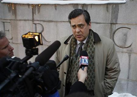 Attorney Jonathan Turley, attorney for the Brown family made famous by the television show ''Sister Wives'', talks to the media in front of the U.S. Federal Courthouse after a hearing in Salt Lake City, Utah January 17, 2013. The Brown's, who are polygamists, are suing Utah on the grounds that the state's bigamy laws are unconstitutional. REUTERS/Jim Urquhart