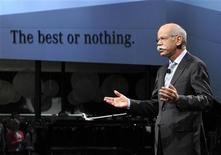 Daimler AG and Mercedes Benz chairman Dieter Zetsche speaks on stage at the North American International Auto Show in Detroit, Michigan January 14, 2013. REUTERS/James Fassinger
