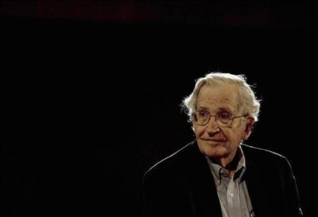 U.S. linguist and philosopher Noam Chomsky pauses while addressing the audience at the National Autonomous University's Educational Investigation Institute (UNAM) in Mexico City in this September 21, 2009 file photo. REUTERS/Jorge Dan