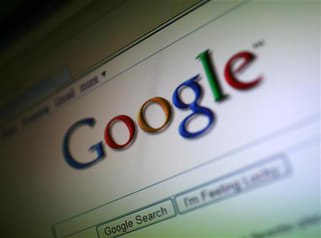 A photo of the Google Inc. logo is shown on a computer screen in San Francisco, California July 16, 2009. REUTERS/Robert Galbraith/Files