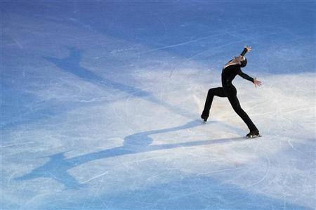Evan Lysacek performs during the Smucker's Skating Spectacular at the U.S. Figure Skating Championships in Greensboro, North Carolina January 30, 2011. REUTERS/Chris Keane