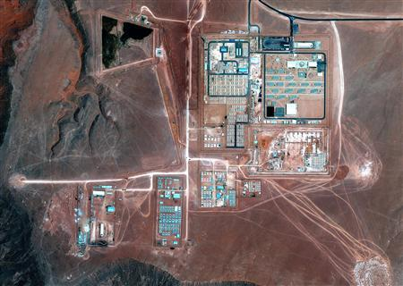 The Amenas gas field in Algeria is seen in this September 10, 2012 handout satellite image courtesy of Google Earth. REUTERS/Google Earth/GeoEye/Handout