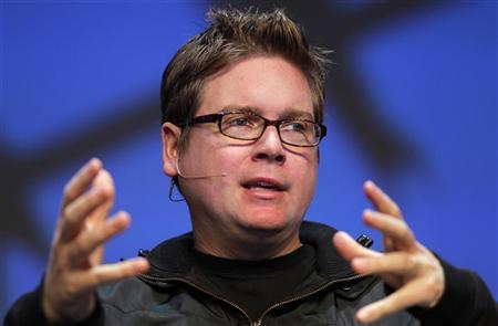 Biz Stone, co-founder of Twitter, speaks at the Charles Schwab IMPACT 2010 conference in Boston, Massachusetts October 28, 2010. REUTERS/Adam Hunger/Files