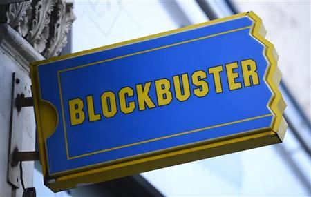 The logo of a Blockbuster shop is seen in south London January 16, 2013. REUTERS/Paul Hackett