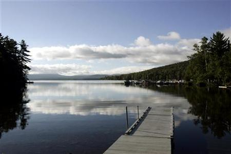 A general view of Rangeley Lake, which is being monitored for mercury levels, in Rangeley, Maine in this file photo taken August 23, 2005. REUTERS/Brian Snyder