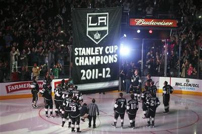 Kings unveil championship banner as season finally...