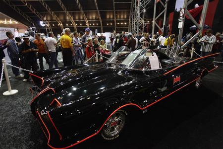 The original Batmobile is displayed during the Barrett-Jackson collectors car auction in Scottsdale, Arizona January 19, 2013. The vehicle was sold for $4,200,000 according to the auction company. REUTERS/Joshua Lott