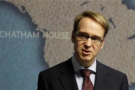 European Central Bank policymaker and president of Germany's Bundesbank, Jens Weidmann, speaks at Chatham House in central London March 28, 2012. REUTERS/Stefan Wermuth