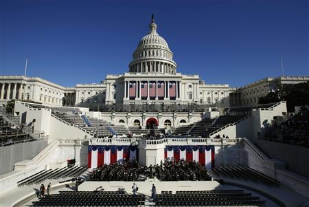 The West Front of the U.S. Capitol is pictured on the eve of the second inauguration of U.S. President Barack Obama in Washington, January 20, 2013. REUTERS/Jason Reed