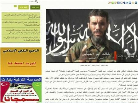 Veteran jihadist Mokhtar Belmokhtar is seen in a still image taken from Mauritanian news website Sahara Media at an unidentified location on January 20, 2013. REUTERS/Sahara Media website via Reuters TV