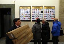 Simboli elettorali depositati al ministero degli Interni in vista delle prossime elezioni del 24 e 25 febbraio. Roma, 14 gennaio 2013. REUTERS/ Alessandro Bianchi