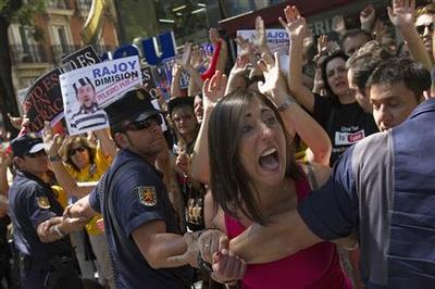 Protests become way of life in Spanish recession