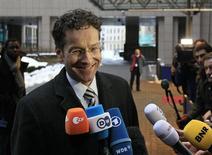 Le ministre néerlandais des Finances, Jeroen Dijsselbloem, a été confirmé lundi par ses pairs à la présidence de l'Eurogroupe, l'instance qui rassemble les ministres des Finances de la zone euro. Il remplace le Luxembourgeois Jean-Claude Juncker. /Photo prise le 21 janvier 2013/REUTERS/Yves Herman