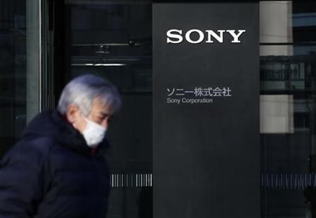 The logo of Sony Corp. is displayed at the entrance of Sony City Osaki building in Tokyo January 10, 2013. REUTERS/Toru Hanai