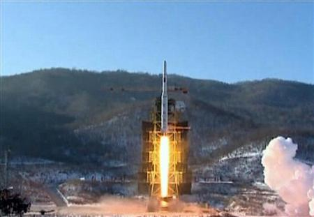 A video grab from KCNA shows the Unha-3 (Milky Way 3) rocket launching at the North Korea's West Sea Satellite Launch Site, at the satellite control centre in Cholsan county, North Pyongan province in this video released by KCNA in Pyongyang December 13, 2012. REUTERS/KCNA