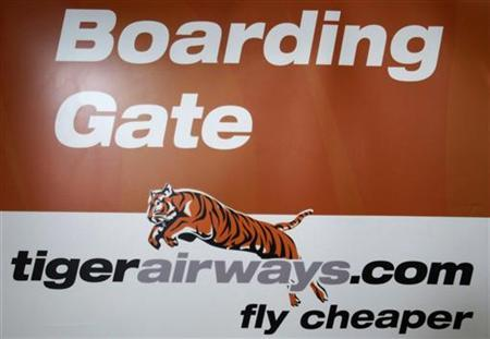 A Tiger Airways sign is seen at its terminal in Melbourne Airport July 7, 2011. REUTERS/Mick Tsikas