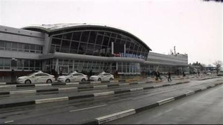 Video screenshot of the exterior of Boryspil Airport in Kiev, Ukraine, obtained on January 22, 2012. REUTERS/Video