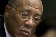 O ex-presidente da Libéria Charles Taylor aparece em corte no Tribunal Especial para Sierra Leone em Leidschendam, nos Países Baixos. 22/01/2013 REUTERS/Peter Dejong/Pool