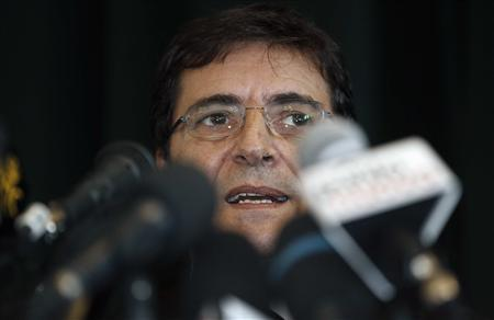 Nicola Cosentino speaks during a media conference in Naples January 22, 2013. REUTERS/Ciro De Luca