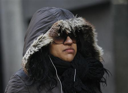 A woman walks in the financial district of New York, January 22, 2013. REUTERS/Brendan McDermid